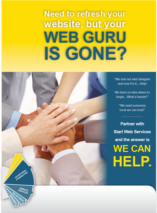 Need to refresh your website, but your Web guru is gone? We can help!